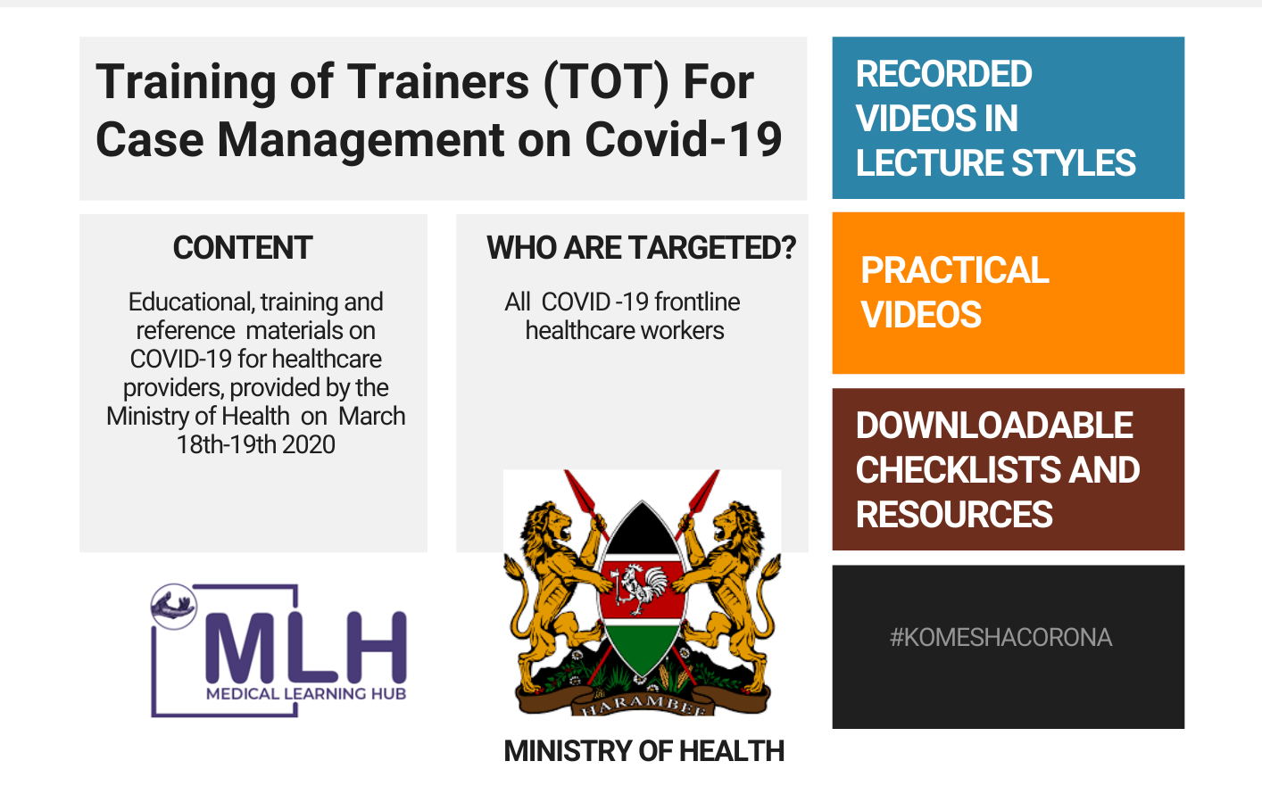 Ministry of Health Training